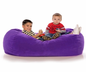 Grape Microsuede 4' Lounger Jr.