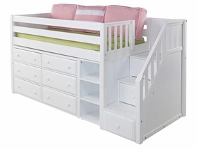 Great 1 Low Loft Storage Bed with Staircase