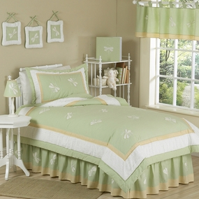 Green Dragonfly Dreams Kids Bedding Collection