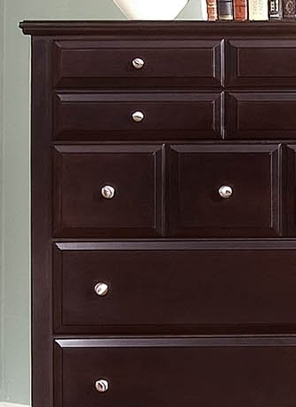 Hamlet 5-Drawer Chest in Merlot