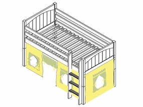 I Love You 24 Low Loft Bed with Medium/Low Bed Ends