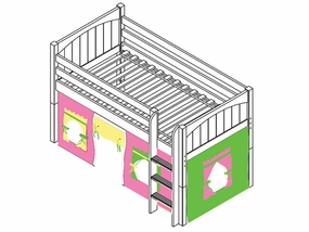 I Love You 25 Low Loft Bed with Medium/Low Bed Ends