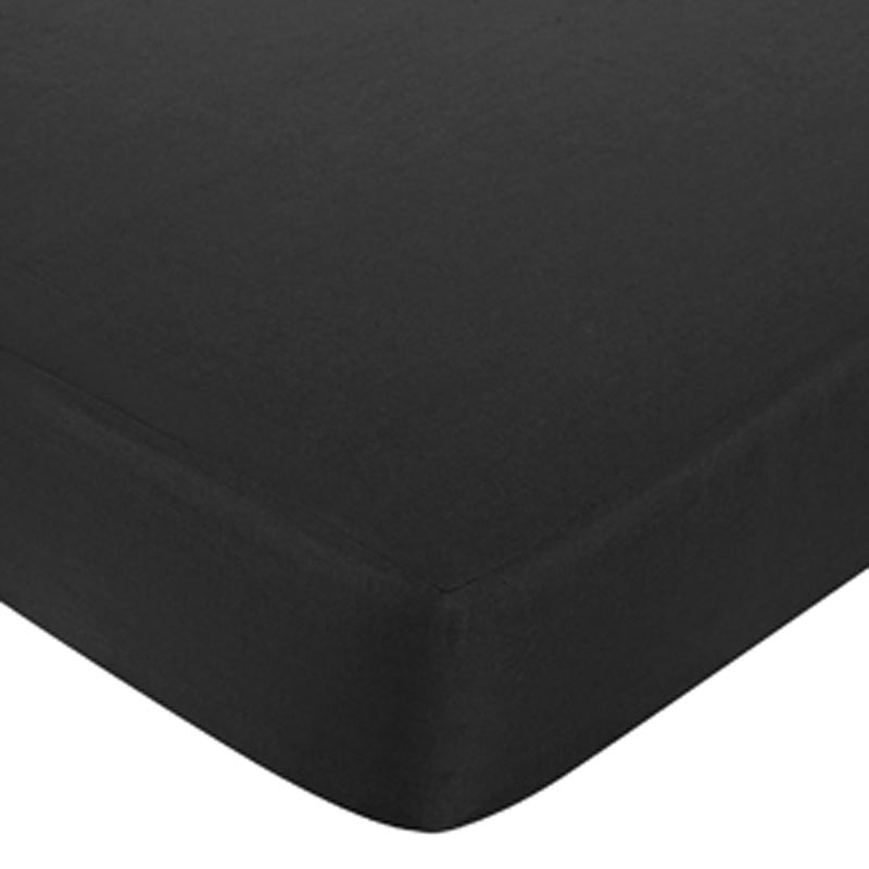 Isabella Pink Solid Black Fitted Crib Sheet