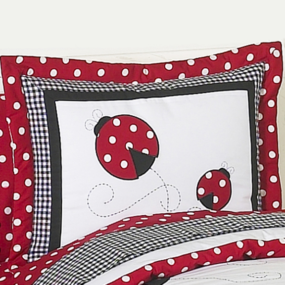 Little Ladybug Standard Pillow Sham