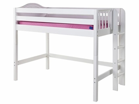 Mack Mid-Height Loft Bed with Straight Ladder on End