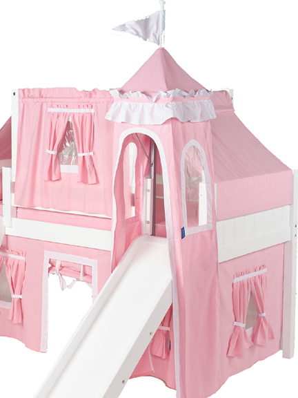 Marvelous 23 Low Loft Castle Bed with Straight Ladder