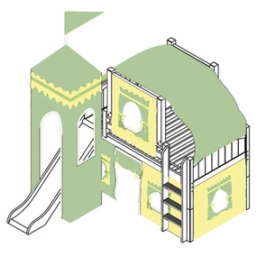 Marvelous 24 Low Loft Castle Bed with Straight Ladder