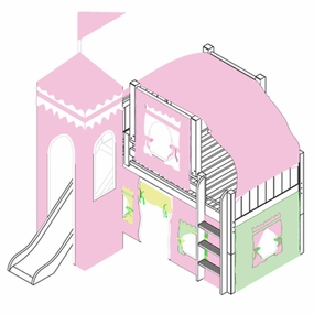 Marvelous 25 Low Loft Castle Bed with Straight Ladder