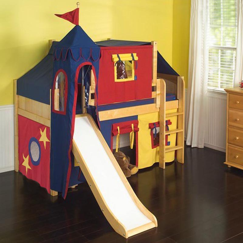 Marvelous 29 Low Loft Castle Bed with Straight Ladder