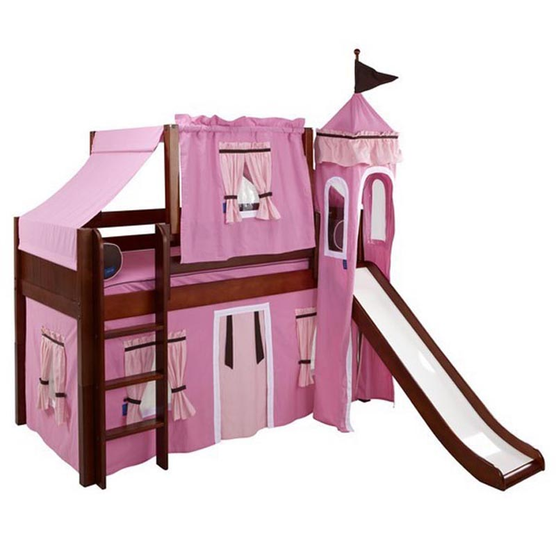 Marvelous 73 Low Loft Castle Bed with Straight Ladder