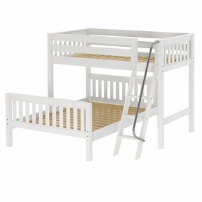 Max Twin/Full Mid-Height Loft Bed with Angled Ladder