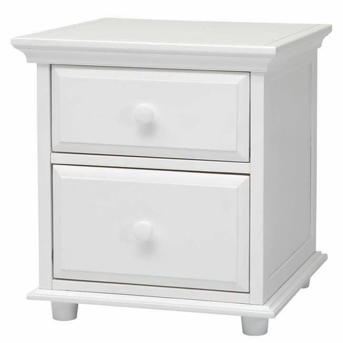 White Nightstand with Crown & Base