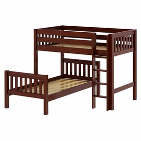 Mish Twin/Twin Mid-Height Loft Bed with Straight Ladder