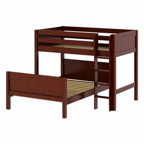 Mix Twin/Full Mid-Height Loft Bed with Straight Ladder