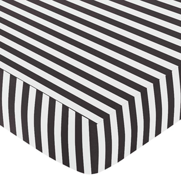 Paris Stripe Fitted Crib Sheet