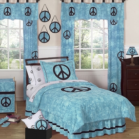 Peace Blue Kids Bedding Collection