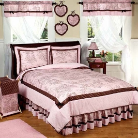 Pink & Brown Toile Kids Bedding Collection