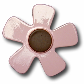 Pink w/Chocolate Center Daisy Drawer Pull