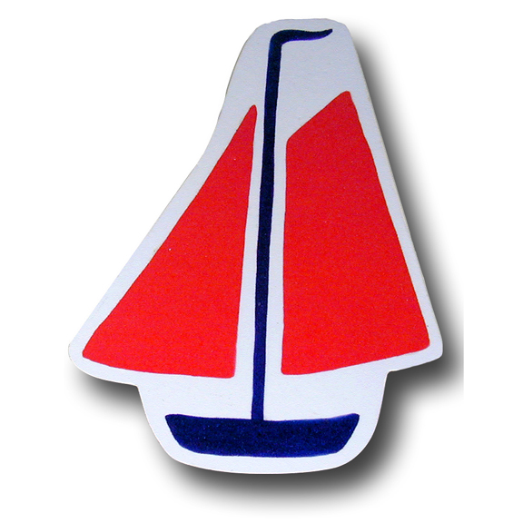 Red Sailboat Drawer Pull