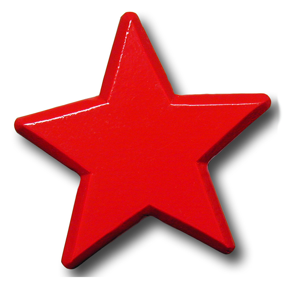 Red Star Drawer Pull