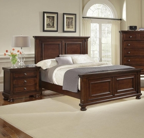 Reflections Mansion Bed in Dark Cherry