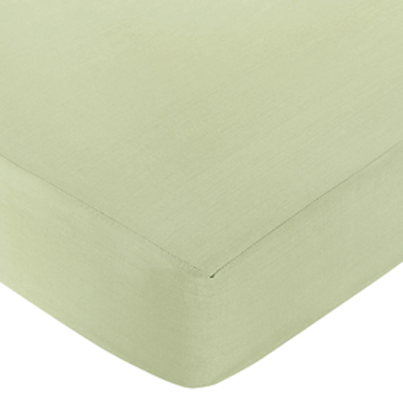 Riley's Roses Green Fitted Crib Sheet