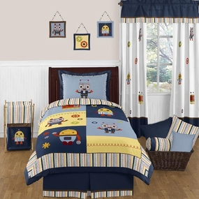 Robot Kids Bedding Collection