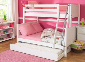 Slope 2 Twin/Full Medium Bunk Bed with Twin Trundle