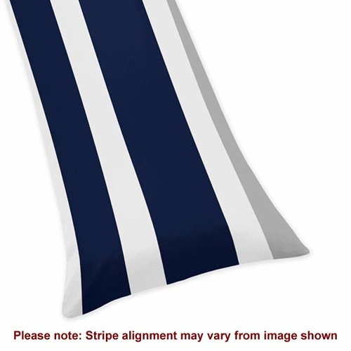 Stripe Navy and Gray Body Pillow Case