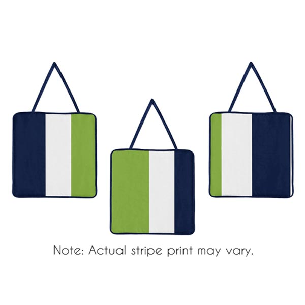 Stripe Navy and Lime Wall Hangings