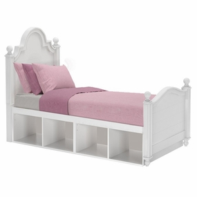 Sydney 3 Twin Bed with Cubbies in White