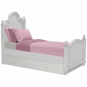 Sydney Twin Bed with Trundle in White