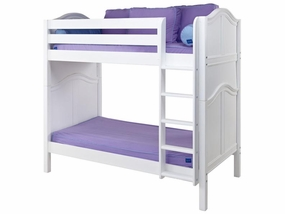 Tall High Bunk Bed with Straight Ladder