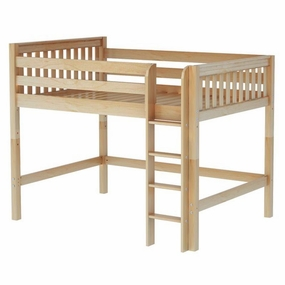 Tip Full Mid-Height Loft Bed with Medium/Low Bed Ends