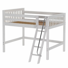 Top Full Mid-Height Loft Bed with Medium/Low Bed Ends