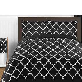 Trellis Black and White Kids Bedding Collection