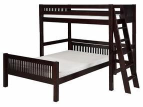Twin/Full Mission L-Shape High Loft with Lateral Ladder in Cappuccino