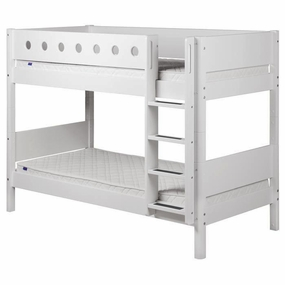 Twin/Twin Low Bunk Bed in White