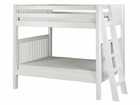 Twin/Twin Mission Bunk Bed with Lateral Ladder in White