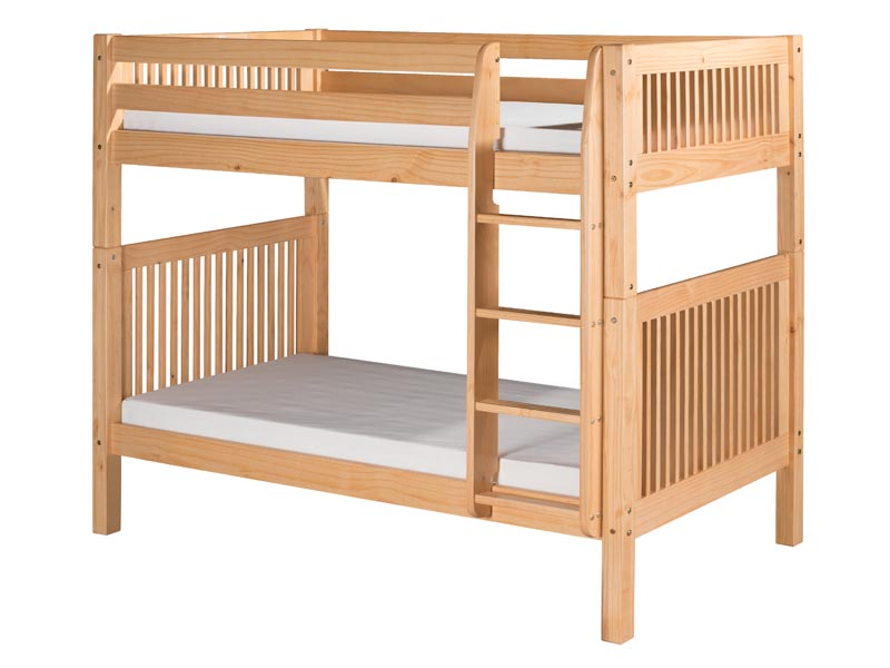 Twin/Twin Mission Bunk Bed with Straight Ladder in Natural