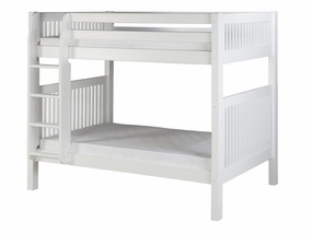 Twin/Twin Mission Bunk Bed with Straight Ladder in White