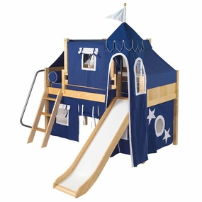 Wow 22 Twin Low Loft Castle Bed with Angled Ladder