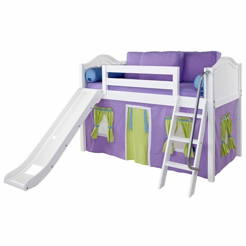 Wow 75NT Twin Low Loft Castle Bed with Angled Ladder