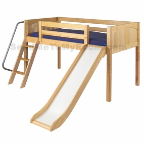 Wow Twin Low Loft Bed with Slide