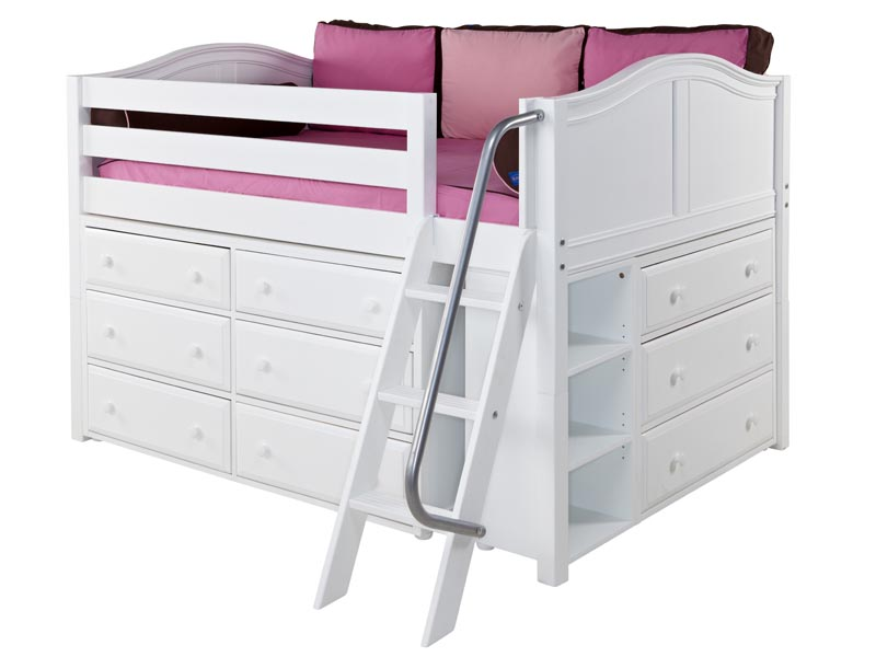 Low Loft Bed With Storage Box22np Low Loft Bed With