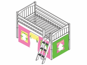 You're A Sweety 25 Twin Low Loft Bed with Medium/Low Bed Ends