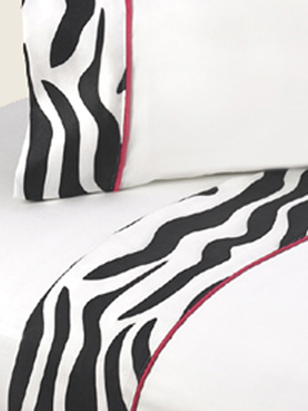 Zebra Pink Sheet Set