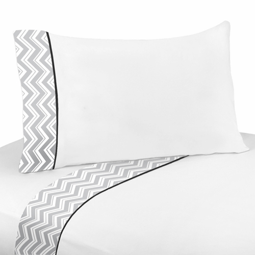 Zig Zag Black & Gray Sheet Set