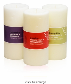 """3x6 Pillar Candle<br><font name=""""Arial"""" color=""""#C9CFC9""""size=2>"""