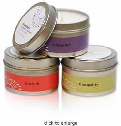 "4 Oz. Travel Tin Candle<br><font name=""Arial"" color=""#C9CFC9""size=2>"